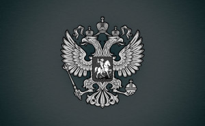 Герб России на сером фоне