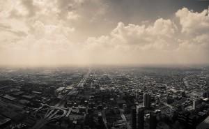 Город горизонт черно-белый обои на рабочий стол города страны высокого качества