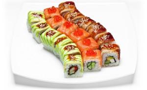 Роллы суши японская кухня еда