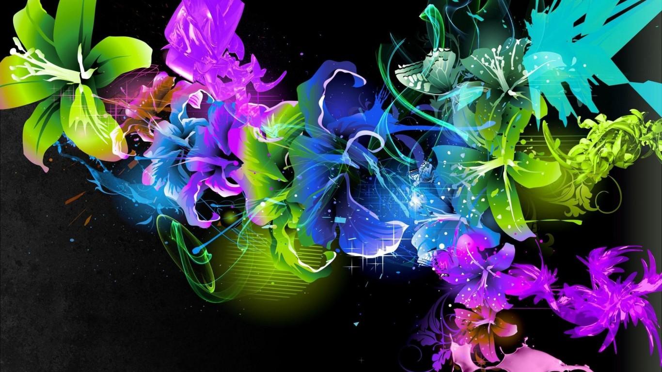 <p>Цветы абстракция</p>