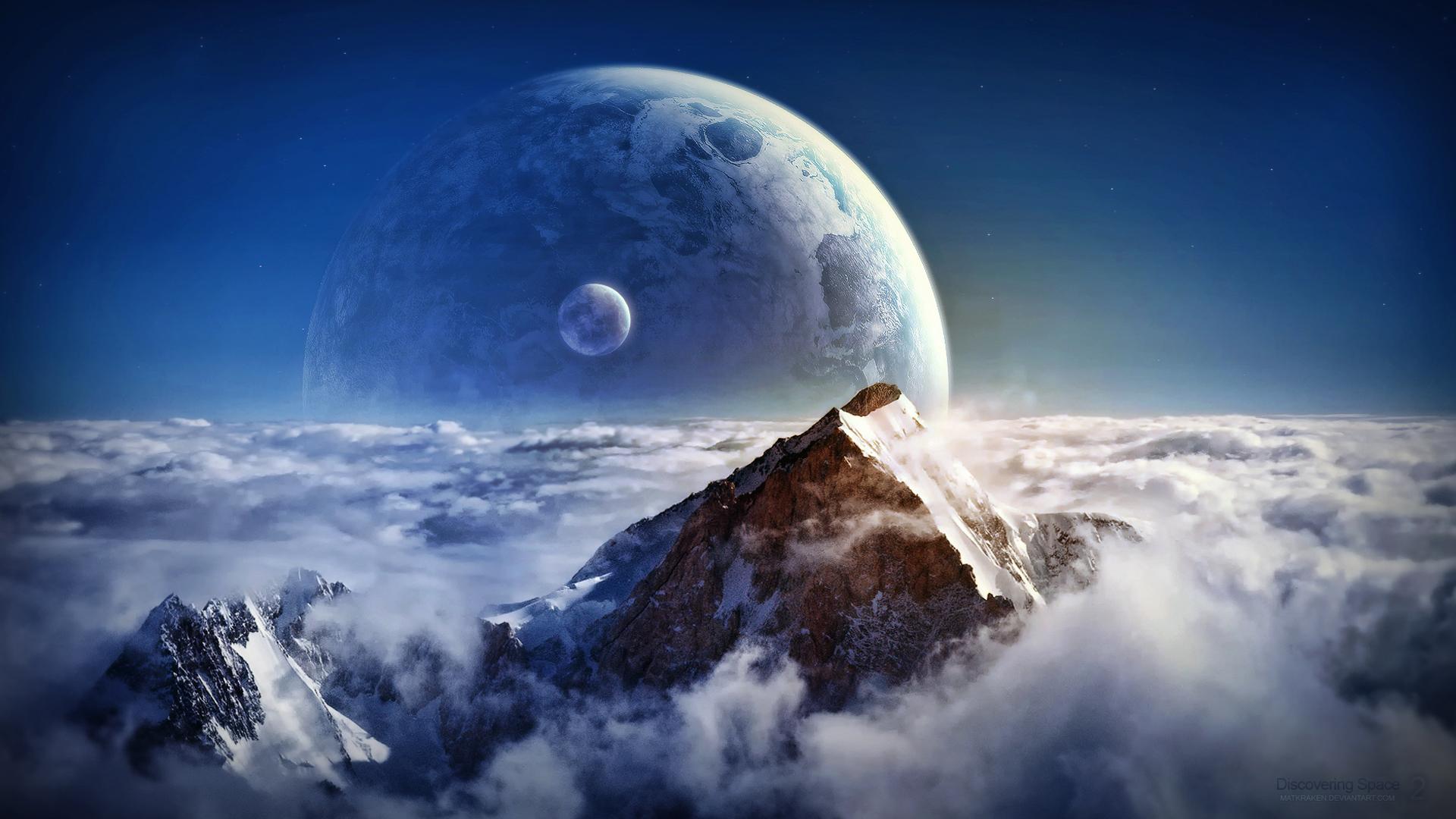 <p>Космос горы</p>
