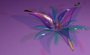 цветок_лепестки_стекло рисунок графика на рабочий стол скачать