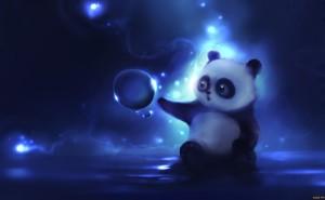 Панда на рабочий стол обои скачать из категории мультфильмы