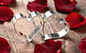 Два сердца любовь романтика обои выского качества скачать на рабочий стол