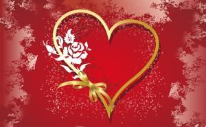 Сердце на рабочий стол, скачать обои на день святого валентина
