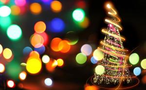 Елка графика Праздник Новый год обои на рабочий стол высокого качества скачать рождество снег елки свечи елочные шары