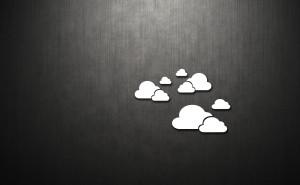 Облака на сером фоне