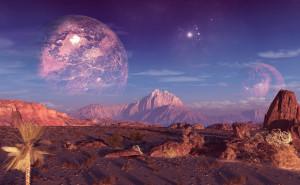 Горы и космос на рабочий стол обои скачать высокого качества планеты в космосе