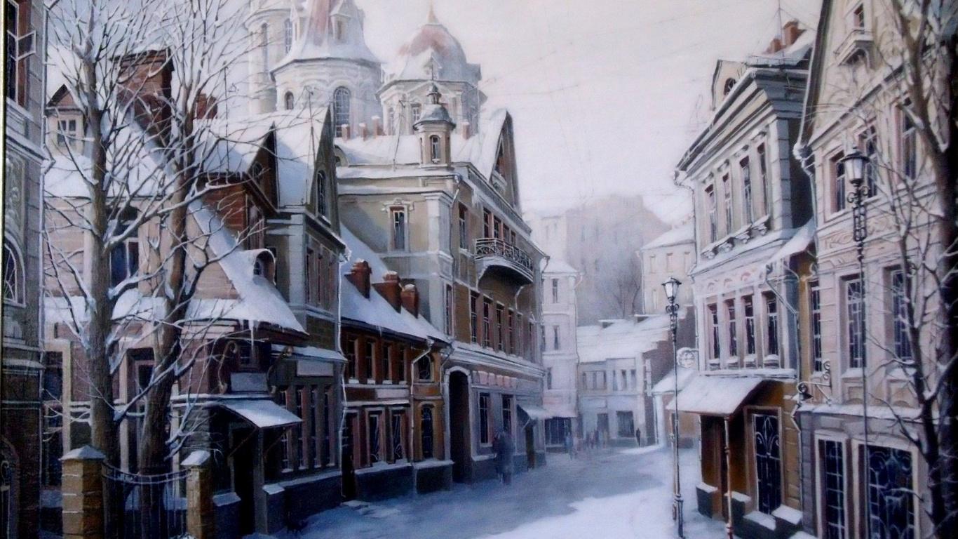 <p>Улица зимой</p>