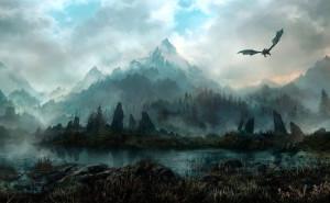 Спящий мир море дракон закат солнце горы