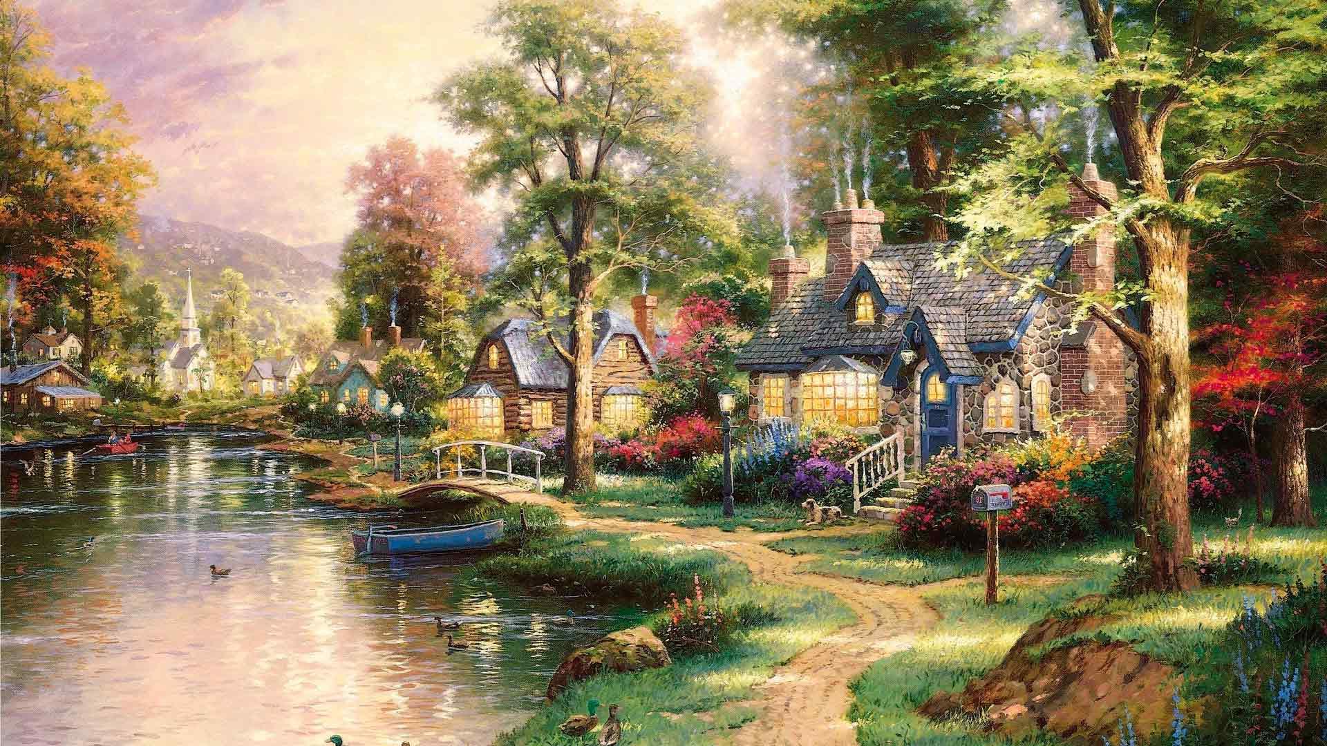 <p>Дом у реки</p>