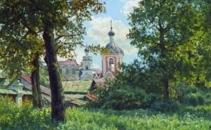 Русская живопись обои на рабочий стол рисунок природа храм скачать высокого качества
