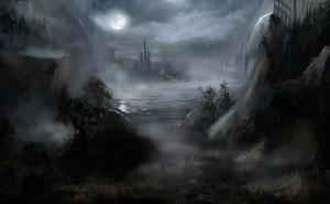 Фантастика Замок Ночь Рисунок