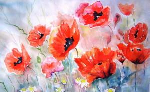 бои фото картинку на тему живопись, пейзаж цветы рисунки пейзаж природа