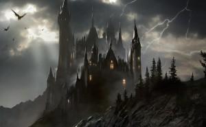 Трансельвания-замок-гроза-обои