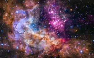 Яркая галактика