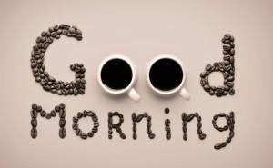 Чашка кофе gopd morning