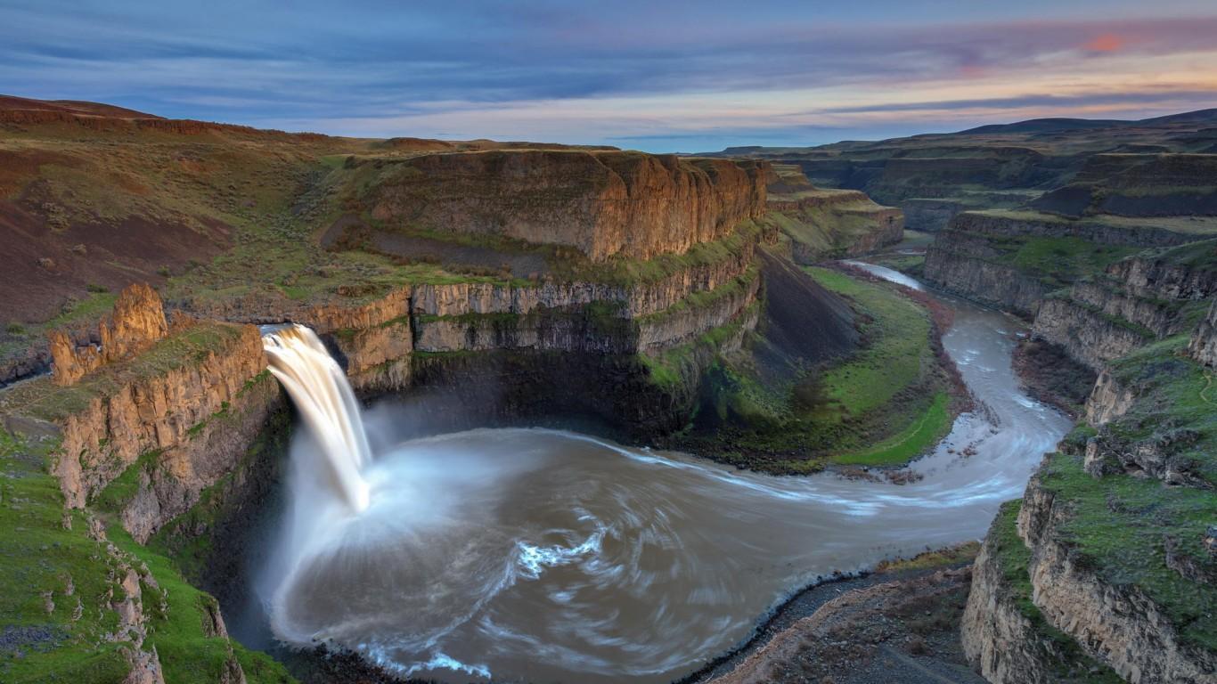 <p>Водопад и равнина</p>
