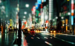 Городская улица огни размытие обои на рабочий стол города страны высокого качества