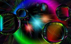 Графика шары неон разноцветные