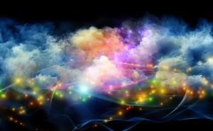 Графика небо разноцветный неон