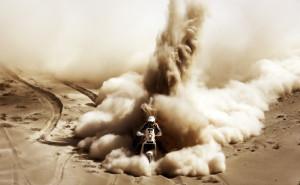 Ралли Дакар мото байк на рабочий стол пыль песок