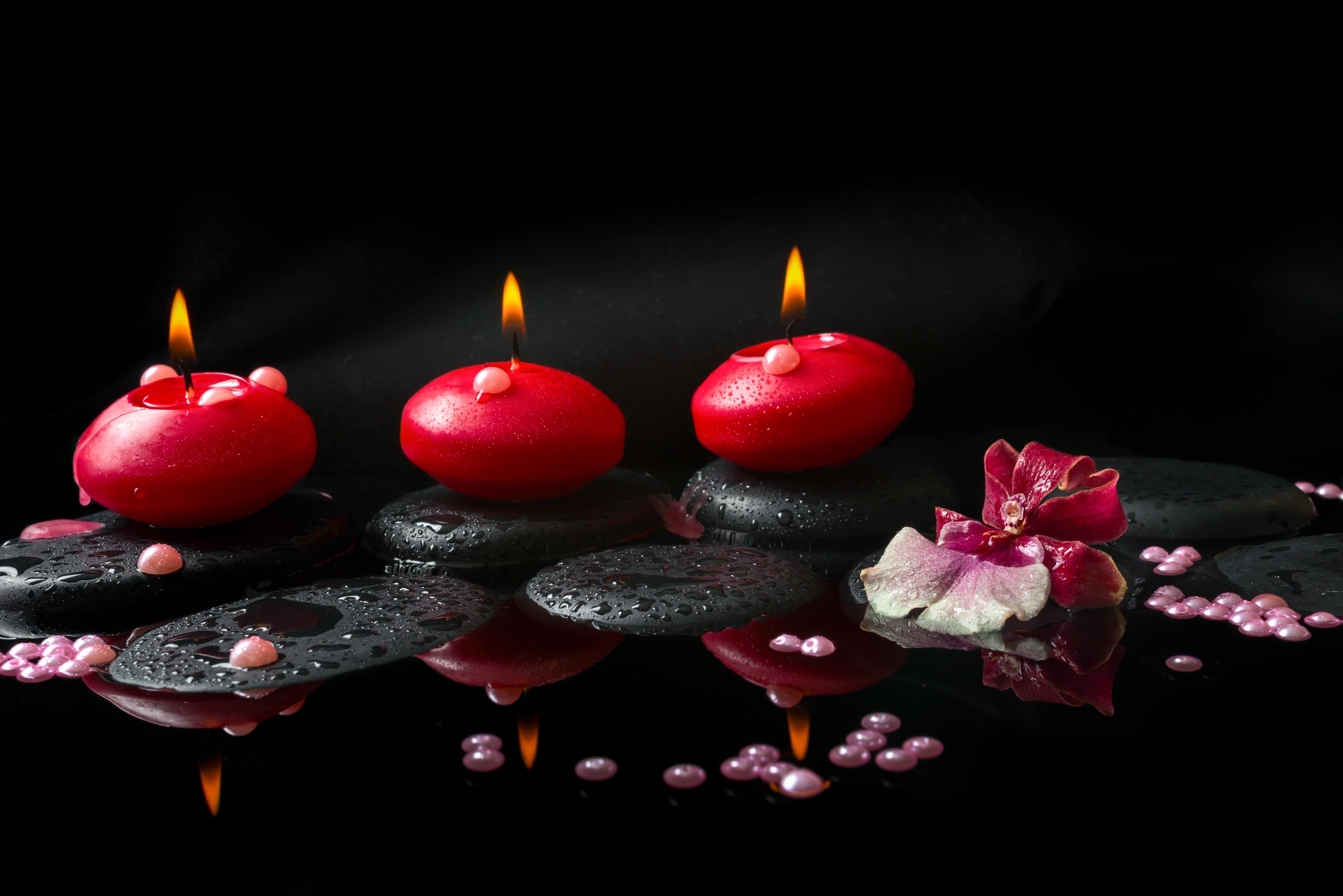 Камни черные цветок  № 2989386 бесплатно