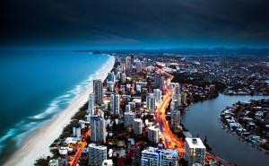 Пляж город море золотой обои на рабочий стол города страны высокого качества