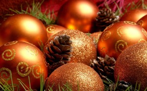 Рождественские шарики елочные шары игрушки на рабочий стол новый год праздники