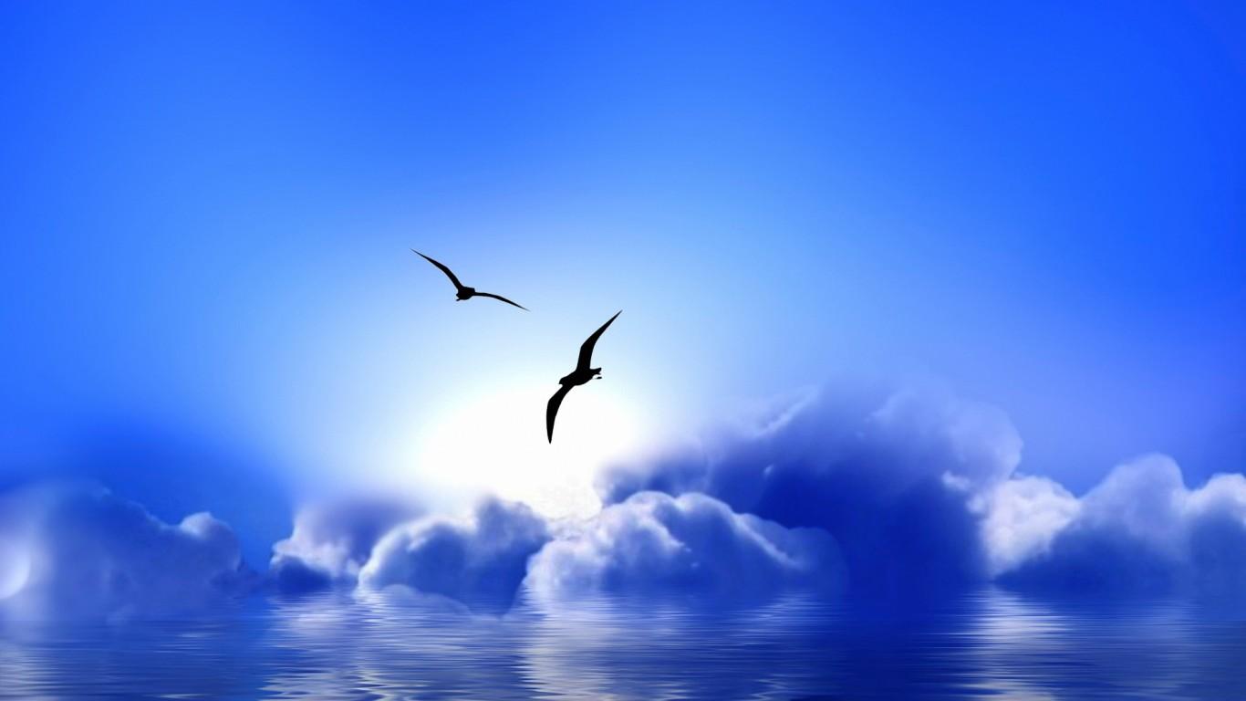 <p>Синии облака</p>