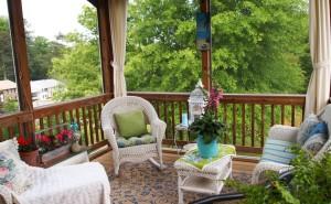 Терасса дома обои интерьер, дизайн, стиль, офис дом скачать обои на рабочий стол обои интерьер, стиль, дизайн, дом, терраса весна деревья уют