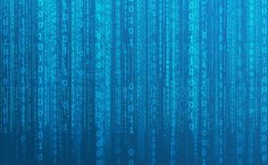 бинарная матрица синий фон цифры абстракция