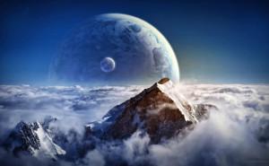 Космос горы Галактика на рабочий стол космос фантастика Космос на рабочий стол обои планеты астронавт