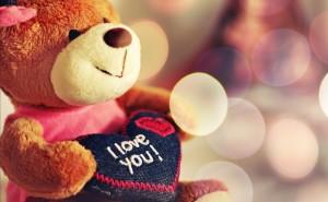 Медвежонок любовь романтика обои выского качества скачать на рабочий стол