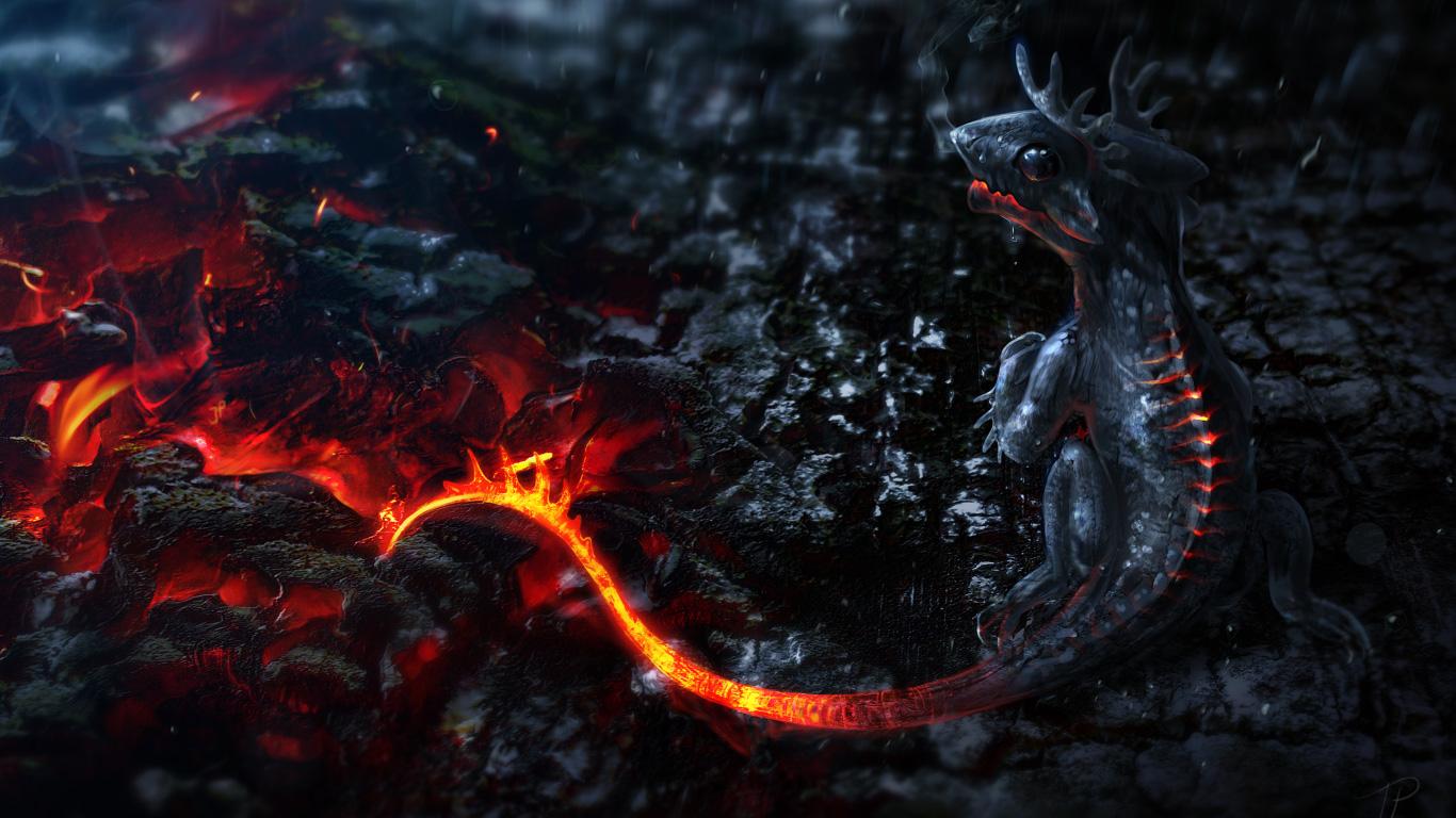 3Д Дракон обои на рабочий стол - Qapper.ru