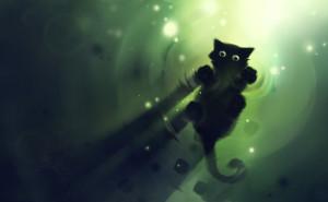 Графика котенок