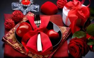 Ужин на день святого Валентина скачать обои