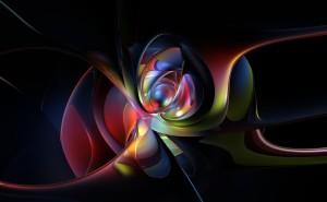 Космическая абстракция космос свет неон синий желтый
