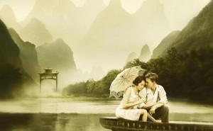 Романтика на озере любовь романтика обои выского качества скачать на рабочий стол