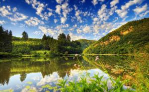 Озеро пейзаж обои высокого качества на рабочий стол
