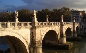 Мост святого ангела на рабочий стол пейзаж обои высокого качества
