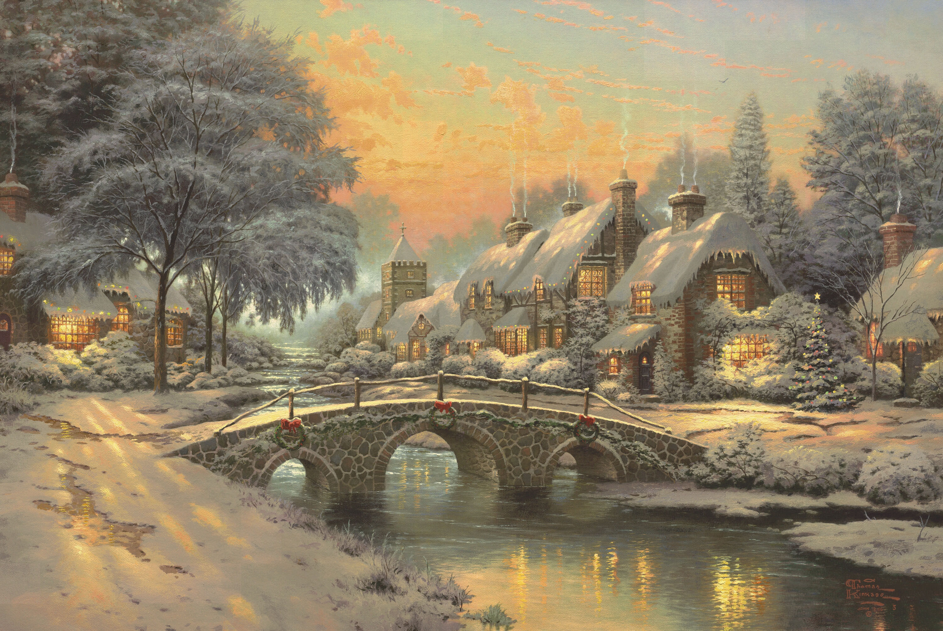 <p>Рождество в деревне</p>