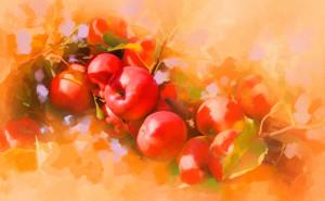 бои фото картинку на тему живопись, пейзаж цветы рисунки натюрморт фрукты