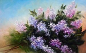бои фото картинку на тему живопись, пейзаж цветы рисунки